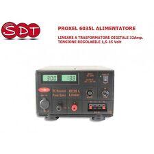 PROXEL 6035L ALIMENTATORE LINEARE A TRASFORMATORE DIGITALE 32Amp. TENSIONE REGOL