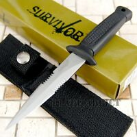 """6.5"""" Double Edge Military Tactical Combat Fixed Blade Boot Knife Throwing Dagger"""