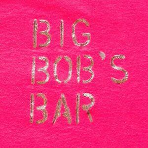 Vintage Single Stitch T-Shirt Big Bob's Bar Blondes Deep Pink M Puffy Paint USA