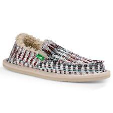 NEW Sanuk Kids Lil Donna Ice Chill Slip On Loafers White Multi Size 12