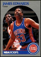 James Edwards #104 Detroit Pistons - Hoops - 1990-1991 Basketball Card (C494)