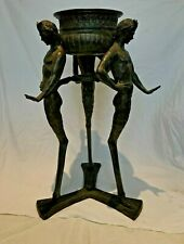 More details for antique bronze italian jardiniere,signed ,large and heavy-make an offer