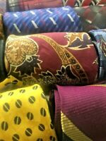 Lot 50 100% Silk Neckties Job Suit Wear Quilting Craft Neck Tie Lots Free Ship