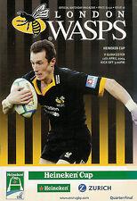London VESPE V Gloucester-EUROPEAN CUP 11 APR 2004 programma Rugby