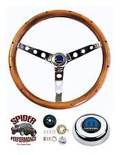 """1968-1969 Charger Coronet Dart steering wheel MOPAR 15"""" CLASSIC WALNUT"""