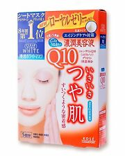 Face Mask Kose Clear Turn White Mask Q 10 Coenzyme Q 10 (22 mL × 5 sheets) F/S