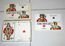 Paola Castellini CHE TIPO SEI ? Carte gioco psicologico Euroclub 1986 PERFETTO