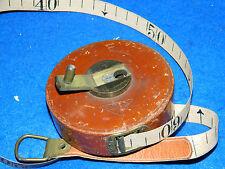 optima VINTAGE 10 mètre à RUBAN measure METER ROLLER measuring Tape Isolated