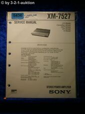 Sony Service Manual XM 7527 Amplifier (#5436)