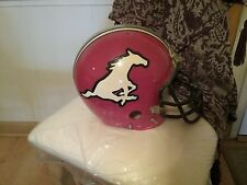 VINTAGE CFL CALGARY STAMPEDERS RIDDELL SUSPENSION FULL SIZE HELMET