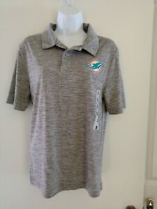 NFL Team Apparel Miami Dolphins Polo Golf Shirt Size Small NWT  Extra Gift #98