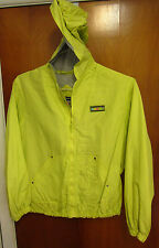 ROTHSCHILD SPORT vtg hooded jacket youth lrg nylon size 14 athletic yellow OG