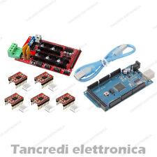RAMPS 1.4 + 5x driver A4988 + Arduino MEGA 2560 R3 ATmega2560 CH340 + Cavo USB