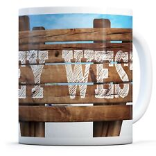 Cute Key West Sign - Drinks Mug Cup Kitchen Birthday Office Fun Gift #12581