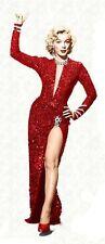 """Marilyn Monroe Kleid xs 34 """"Blondinen bevorzugt""""  Galakleid Pailetten Rot"""
