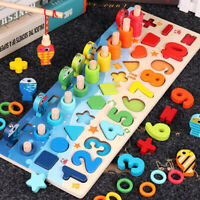 Montessori Math Toys Counting Board Digital Shape Pairing Preschool Learning