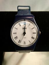 Original Vintage Blue Swatch Watch Swiss Made, New Battery