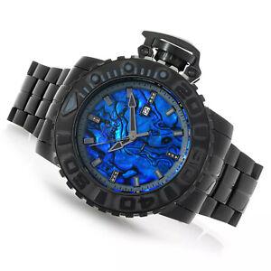 Invicta Men's 58mm Sea Hunter Automatic Diamond Accented Bracelet Blue Abalone