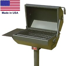 GRILL - PARK STYLE - 320 sq inch Cooking Area - Steel - Side Shelf - Commercial