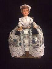 Belgium Brussels Bruxelle Lace Maker Doll W/ Thorens Music Box Switerland