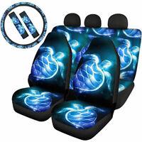 Ocean Animals Car Seat Cover Combo Set 7/9 Pack Auto Interior Set Interior Decor