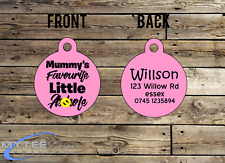 Personalized Dog Cat ID Tags for Funny Pets Mummy's Favorite A****** Double Side