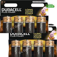 8 x Duracell D Size Plus Power Alkaline Batteries (LR20, MN1300, MX1300, Mono)