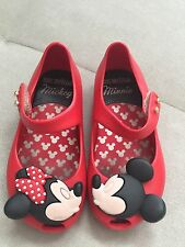 Girl Mini Melissa Red Micky And Mini Rubber Shoes Pumps US 7 Soft Flexible