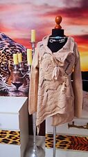 SIMONA BARBIERI  Twin Set GR.M  Damen Strickjacke Wickeljacke -Women's sweater