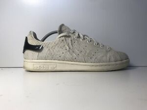 ADIDAS STAN SMITH METAL HEEL (OFF WHITE) PATTERNED SUEDE SIZE 5 UK