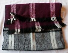 Mens/Teenage: RED/BLACK/WHITE FRINGED SCARF