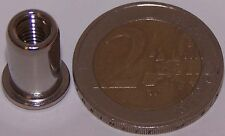 50 Edelstahl A4 Blindnietmuttern M5 mit Flachkopf 0,5-3,0mm V4A seewasserfest