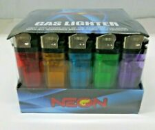 50 Count 1 Pack of 50 Neon Premium Disposable Butane Cigarette Lighters