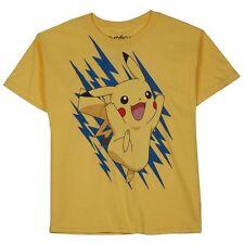Pokemon T-Shirt Bright Yellow Pikachu Shock Shirt Boys Girls Youth XL 18/20 NEW
