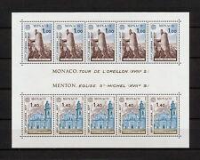 (YYAY 706) Monaco 1977 MNH Mich 1273 -1274 Scott 1067 -1068 Europa Architecture