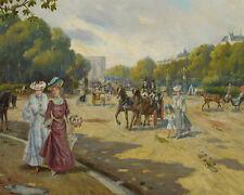 Porte Dauphine Bois de Boulogne Joaquin  Allustante Y Pallares    24'  CANVAS