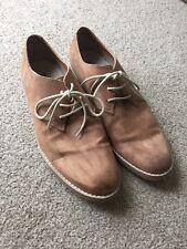 H&M para Hombre Marrón Tostado Gamuza Botas Estilo Chelsea Derby Zapatos UK10 Smart
