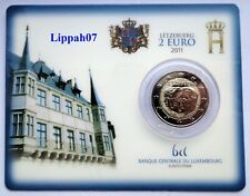 Luxemburg / Luxembourg speciale 2 euro 2011 Jean BU in Coincard