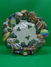 Fitz and Floyd Toyland Canape Christmas Plate Holiday Decor