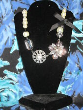 SIMPLY VERA WANG NWT $35 pearls silver black elegant women's necklace