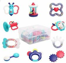 Baby Rattle Teether Baby Toys - 10pcs Shaker, Grab, Shaking Bell Rattle Set Infa