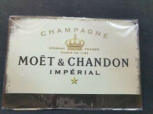 Moet & Chandon Champagne (Cream) Metal Sign Man Cave Garage Pub Bar Vintage Shed