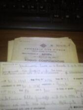 libretto documenti MOTO MIVAL 125  + VISURA MANTOVA 1960