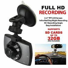 """2.4"""" Full HD LCD 720p Car Dash Cam Vehicle Camera G Sensor Loop Video Recorder"""