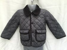 H&M BABY BOYS GREY FLEECE LINED QUILTED JACKET - AGE 12-18 MONTHS