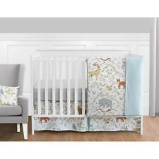 Woodland creatures crib sheet and other accessories Sweet Jojo Designs.