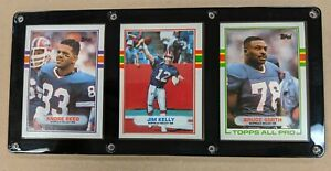 BUFFALO BILLS 3 CARD PLAQUE ANDRE REED JIM KELLY BRUCE SMITH