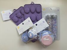Wilton Easter Baking Lot - 5 Pcs - Silicon Molds, Sprinkles, Baking Cups NEW