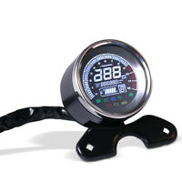 Moto LCD numérique Afficher Tachymètre de compteur kilométrique pour Harley BMW