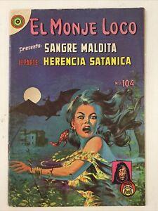 EL MONJE LOCO #104 REVISTAS POPULARES MEXICAN TERROR HORROR MISTERY COMIC 1970